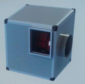 direkt akuple motorlu tek emişli radyal fanlı seyrek kanatlı hücreli fan