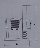 direkt akuple,yüksek basınçlı,tek emişli yüksek basınçlı salyangoz fan çizimi