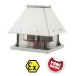 Prof yatay atışlı radyal çatı fanı